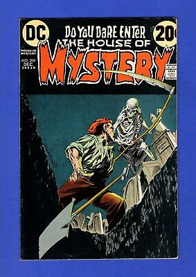 House Of Mystery #209 Vf- Bronze Age Dc Horror Comics Bernie Wrightson Cover