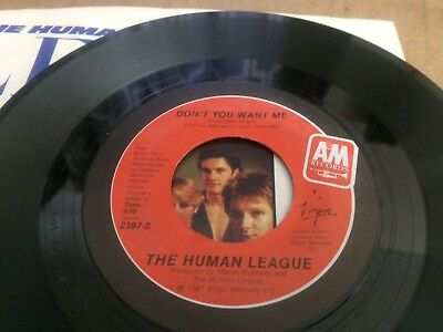 Human League Don't You Want Me Ps  45 7 C2