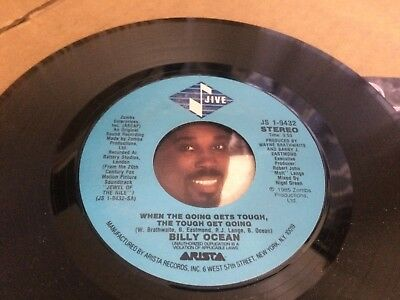 Billy Ocean When The Going Gets Tough , The Tough Get Going Ps  45 7 C2