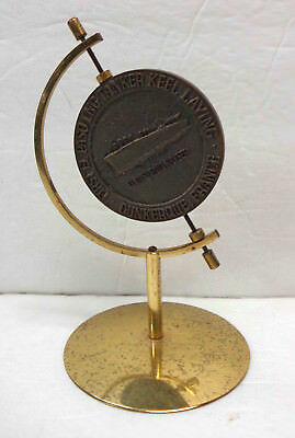 Vintage 1973 El Paso Natural Gas Brass Commemorative Coin on Stand!