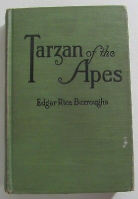 Tarzan Of The Apes by Edgar Rice Burroughs Hardcover Book Published June 1914