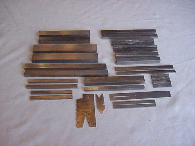 Lot 10 Sets of Machinist Heavy Steel Parallels