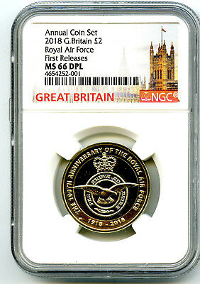 2018 Great Britain 2Pnd Ngc Ms66 Dpl Royal Air Force First Releases Cert 001