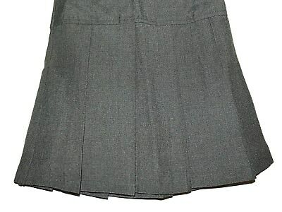 FAB NEW GIRLS EX STORE GREY DROP WAIST PLEATED SCHOOL SKIRT AGE 4-14 years (PP)