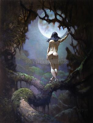 Moon Rapture Print Art by Frank Frazetta