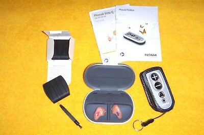 Phonak Virto Q90 Hearing Aids, Pilot One Remote And Accessories