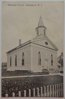 Antique 1909  Postcard Beautiful Methodist Church Swartswood New Jersey