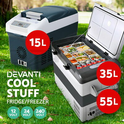 Glacio 15/35/55L Portable Fridge Freezer Cooler 12/24/240V Camping Car Boat