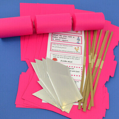 Hot Pink Make & Fill Your Own Cracker Making Craft Kits, Boards & Accessories