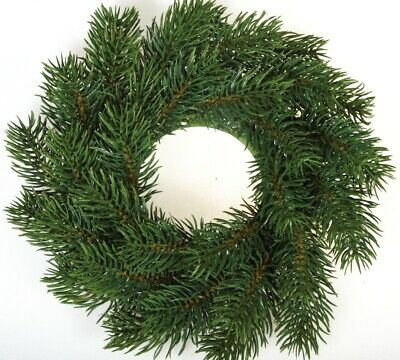 Small Artificial Pine Wreath for Christmas Crafts - 24cm Wide