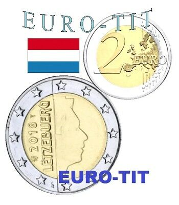 2 EURO    LUXEMBOURG    2018    PIECE  SUPERBE   LUXEMBOURG    2018   disponible