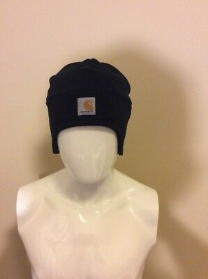 CARHARTT MEN S BEANIE Black Acrylic Knit Hat Black One Size Unisex ... 22d230bb1e0