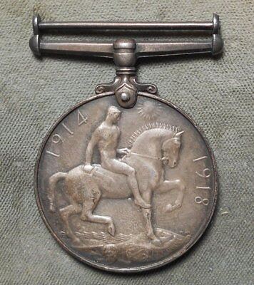 Great Britain WWI Service Medal Silver Northumberland Fusiliers Pte. A. Rodgers