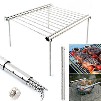 Good Stainless Steel Tube Barbecue Support Furnace BBQ Domestic Charcoal Tool oz