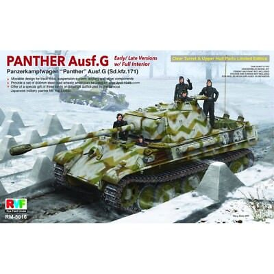RYE FIELD MODEL 5016 - 1/35 WWII Dt. SDKFZ 171 PANTHER G - FULL INTERIOR - NEU