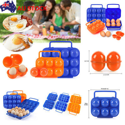 Camping Portable Carry 6/12 Refrigerator Egg Storage Box Container Case Holder