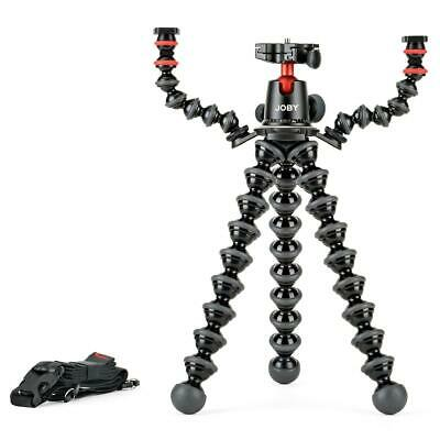 Joby GorillaPod 5K Kit w/Rig for DSLR Camera, Mic and Lights, Black/Charcoal/Red