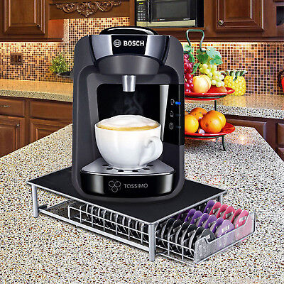 60 Pod Tassimo Coffee Capsule Rack Holder Dispenser Stand Drawer Storage