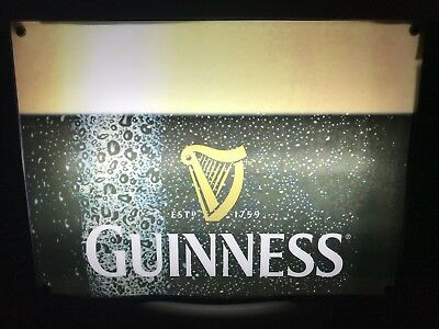 GUINNESS Official Beer Gold Harp Fluorescent Light Box 18.5 X 13.5 In Box Sign
