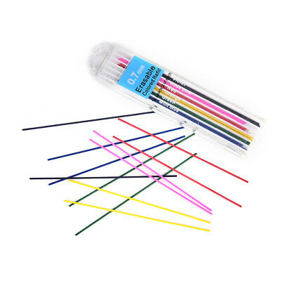 1 Box 0.7mm Colored Mechanical Pencil Refill Lead Erasable Student Stationary TB