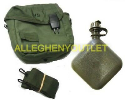 2 Qt OD Collapsible Canteen w/ 2 Qt OD Canteen Cover ALL NEW US Military Issue