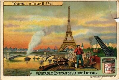 Collectible Advertising Liebig Card Towers The Eiffel Tower