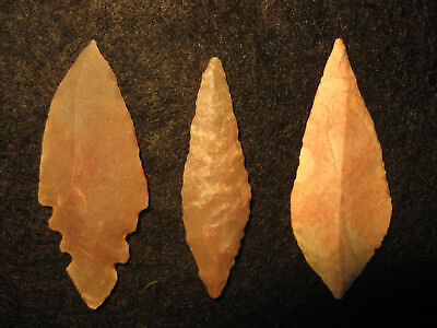 3 Authentic North African Neolithic Arrowheads 3000-7000 Years Old Artifacts #C4
