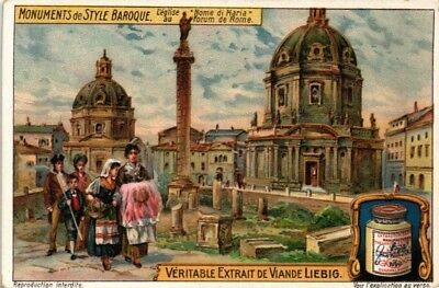 Advertising Liebig Card Monuments Of Bizarre Style Name Of Mary Church Rome