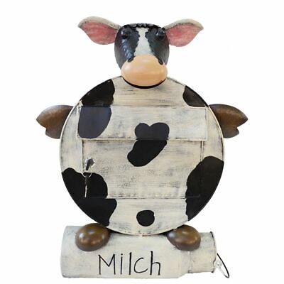 "Mailbox Cow "" Erna "" Mailbox Newspaper Holder Metal"
