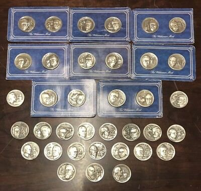 (36) 1.2 oz Sterling Silver Coins ~ 1972 Presidential Signature Series Wittnauer