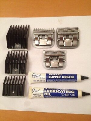 3 X Genuine Oster Dog Clippers & Accessories