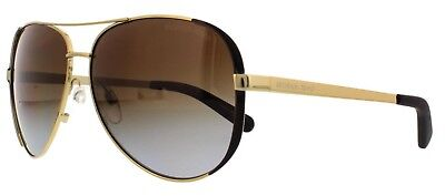New Authentic Michael Kors CHELSEA MK5004 1014T5 Gold Polarized Sunglasses 59MM