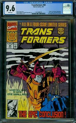 Transformers 80 CGC 9.6 - White Pages - No Reserve Auction