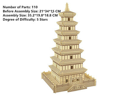 New Assembly DIY Education Toy 3D Wooden Model Puzzles Of China Da Yan Tower