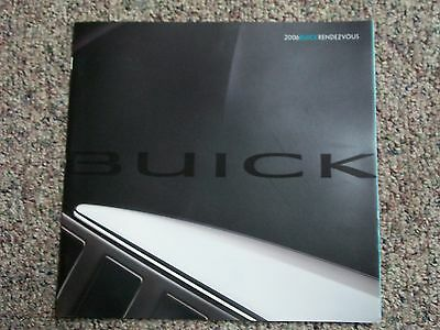 2006 Buick Rendezvous Dealer 28  Page Sales Brochure W/ Options & Color Chart