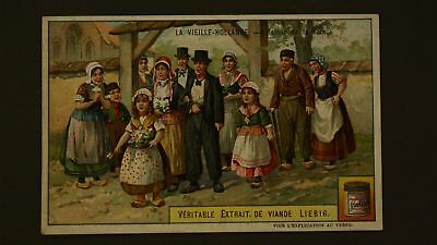 Advertising Liebig Card Old Holland Return Of The Noce