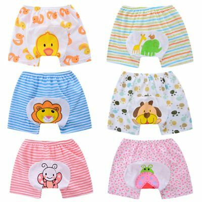 Toddler Baby Cotton PP Pants Underwear Cloth Training Pant Washable Baby Shorts