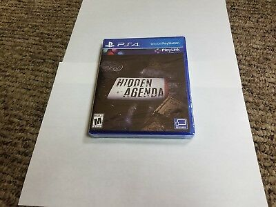 Hidden Agenda (Sony PlayStation 4, 2017) new sealed ps4