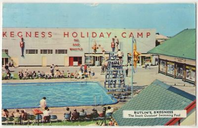 Butlins Skegness The South Outdoor Swimming Pool 1962 Postcard B850 Picclick Uk
