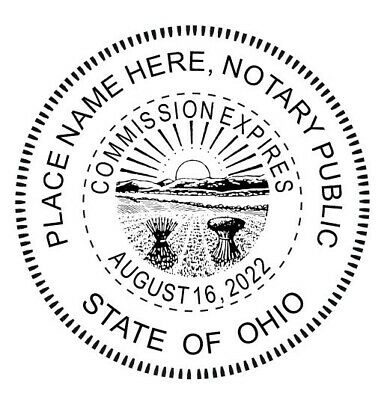 State of Ohio| Custom Round Self-Inking Notary Public Stamp Ideal 400R