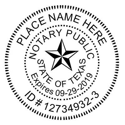 Notary State of Texas | Custom Round Self-Inking Notary Public Stamp Ideal 400R