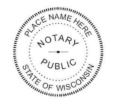 State of Wisconsin| Custom Round Self-Inking Notary Public Stamp Ideal 400R