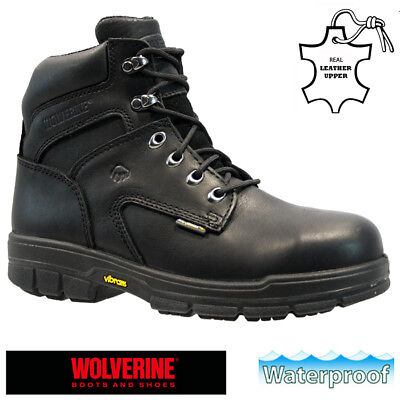 71c446a2363 JCB MENS S3 Black Leather Safety Waterproof Work Boots Steel Toe Cap ...