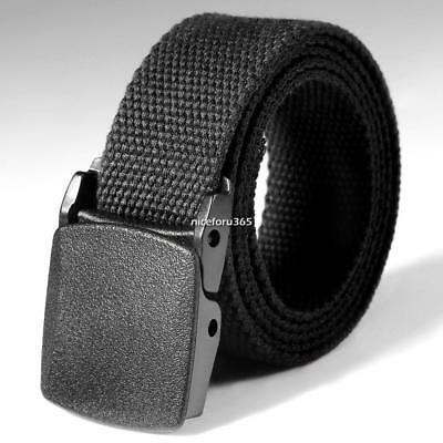 Mens Military Nylon Belt Waist Boys Buckle Belt Strap Casual Plain Waistband NU