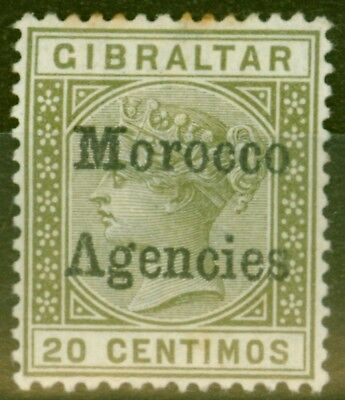 Morocco Agencies 1898 20c Olive-Green SG3cb Inverted V for A Good Mtd Mint
