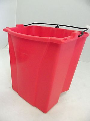 Rubbermaid Commercial 9C74 Dirty Water Bucket For Wavebreak Combo New Red
