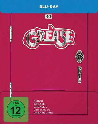 Grease 1 + 2 + Grease Live! - Limited Steelbook # 3-BLU-RAY-NEU