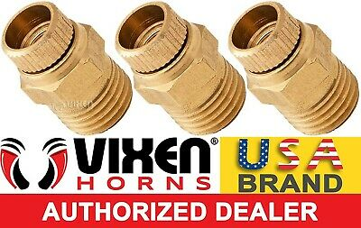 "1/4"" Npt Thumb Style Brass Drain Cock Valve F/train Horn Air Tanks 3Pk Vxa7011-3"