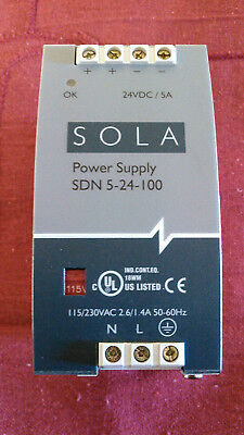 Tested Sola Sdp-5-24-100P Power Supply