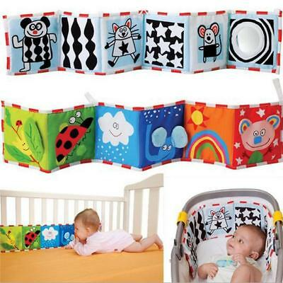 Baby Book Cloth Educational Cot Bed Around Soft Mobile Crib Bumper Animals CB